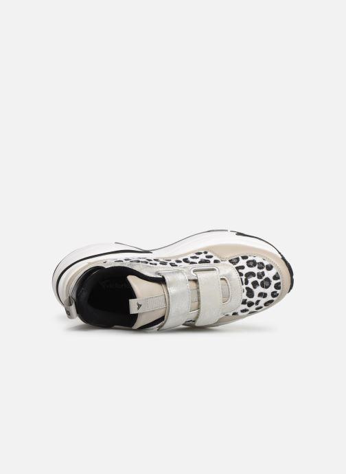 Sneaker Victoria Aire Velcros Animal Print grau ansicht von links