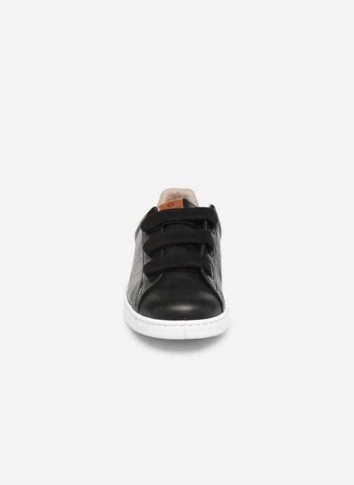 Baskets Victoria Deportivo Velcros Serraje Noir vue portées chaussures