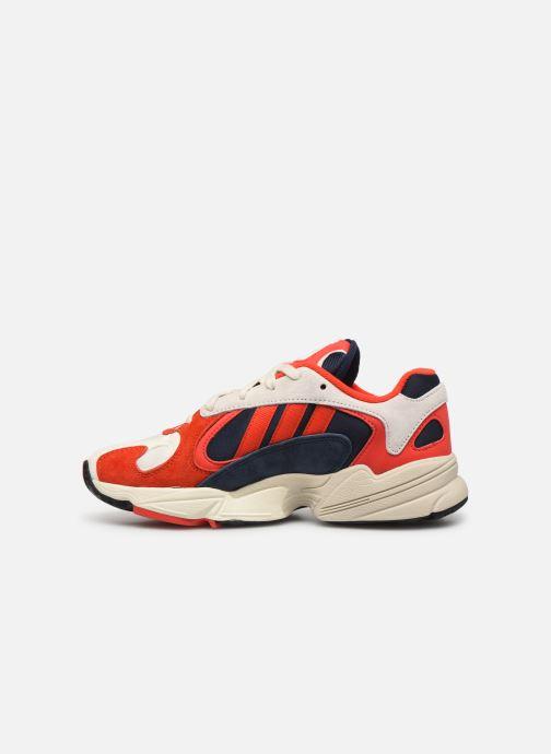 Baskets adidas originals Yung-1 W Rouge vue face