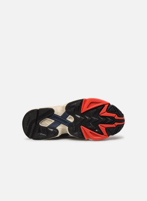 Baskets adidas originals Yung-1 W Rouge vue haut