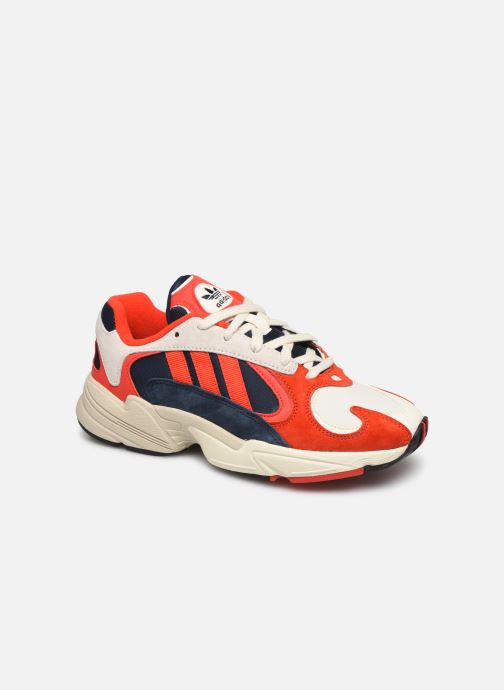 Baskets adidas originals Yung-1 W Rouge vue détail/paire