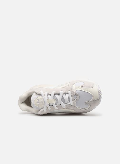 Trainers adidas originals Yung-1 W White view from the left