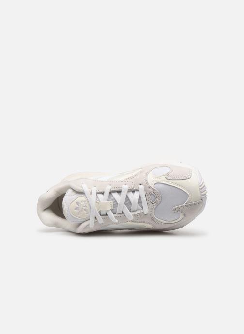 Baskets adidas originals Yung-1 W Blanc vue gauche