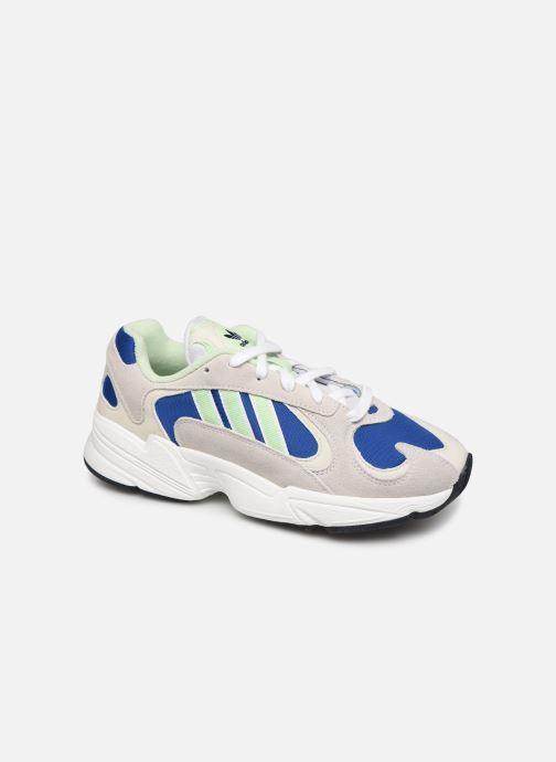 Baskets adidas originals Yung-1 W Gris vue détail/paire