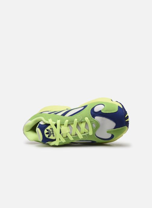 Trainers adidas originals Yung-1 W Green view from the left