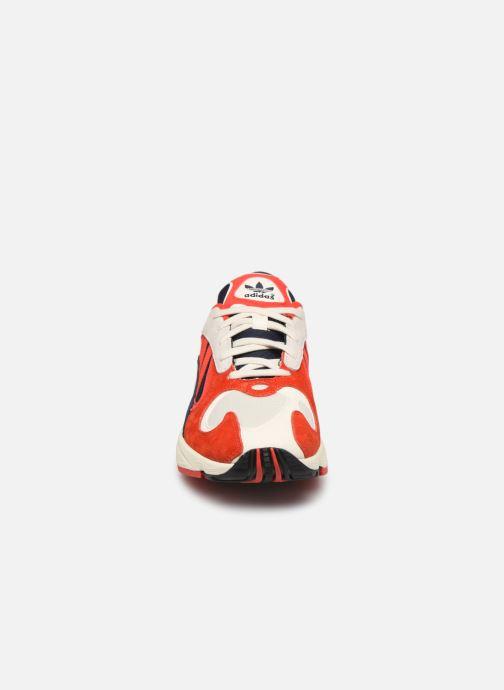 Sneaker adidas originals Yung-1 rot schuhe getragen
