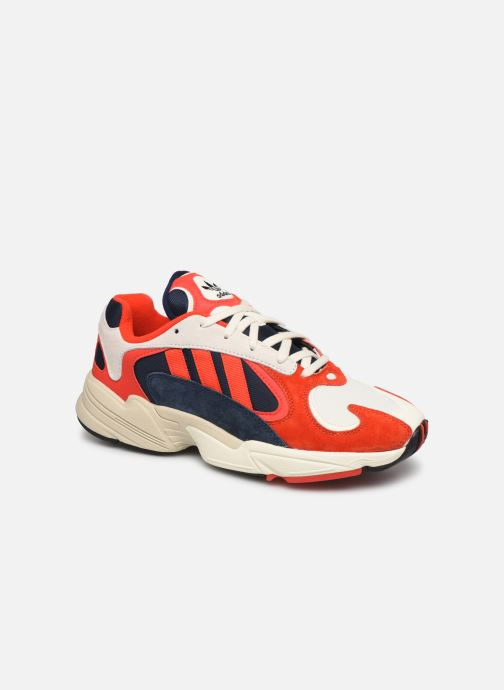 Baskets adidas originals Yung-1 Rouge vue détail/paire