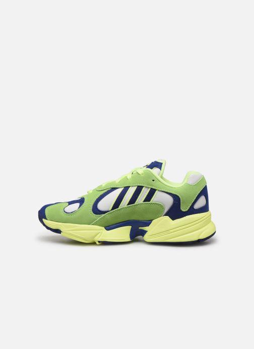 Baskets adidas originals Yung-1 Vert vue face