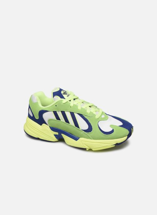 Baskets adidas originals Yung-1 Vert vue détail/paire