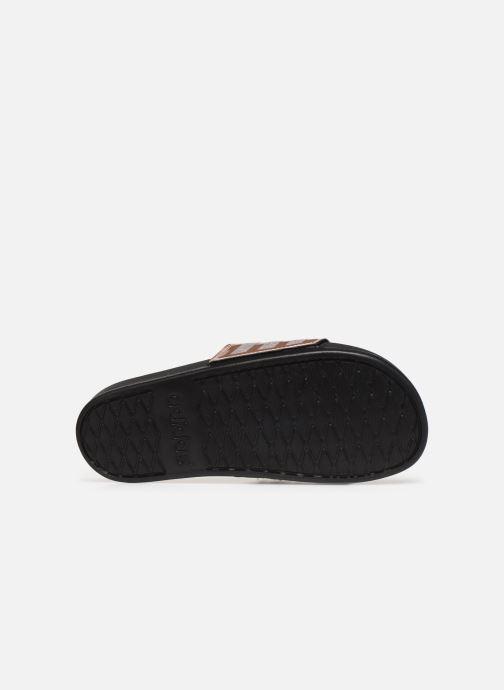 Mules et sabots adidas originals Adilette Comfort Gris vue haut