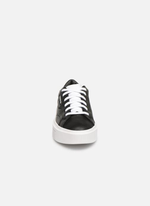 Baskets adidas originals Adidas Sleek Super W Noir vue portées chaussures