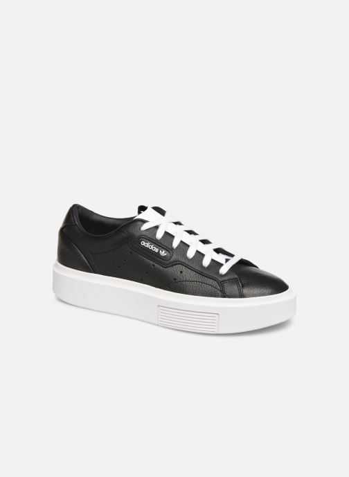 Baskets adidas originals Adidas Sleek Super W Noir vue détail/paire