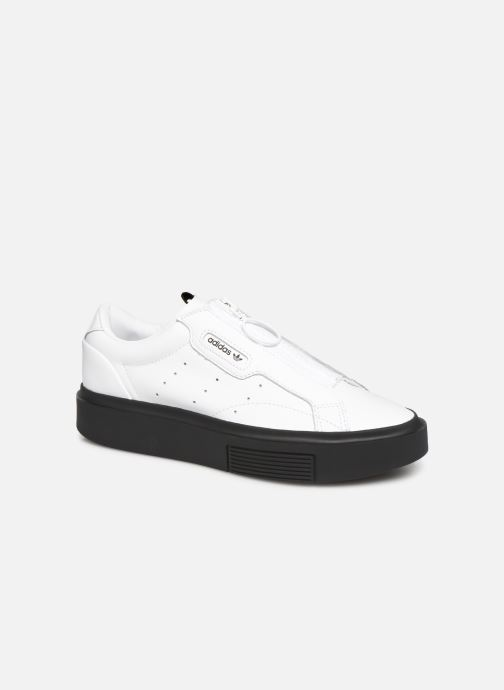 Baskets adidas originals Adidas Sleek Super W Blanc vue détail/paire