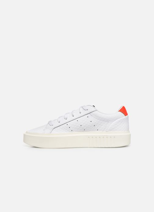 Sneakers adidas originals Adidas Sleek Super W Wit voorkant