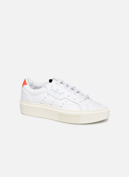 Baskets adidas originals Adidas Sleek Super W Blanc vue détail/paire
