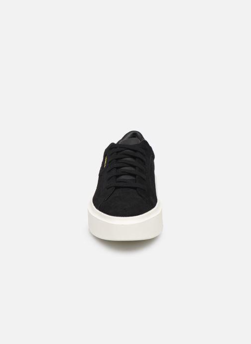 Sneaker adidas originals Adidas Sleek Super W schwarz schuhe getragen