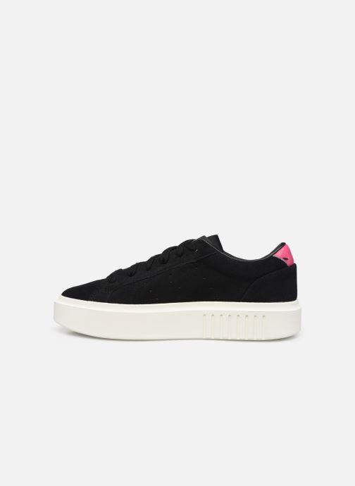 Sneaker adidas originals Adidas Sleek Super W schwarz ansicht von vorne