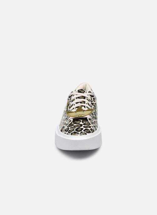 Sneaker adidas originals Adidas Sleek Super W beige schuhe getragen