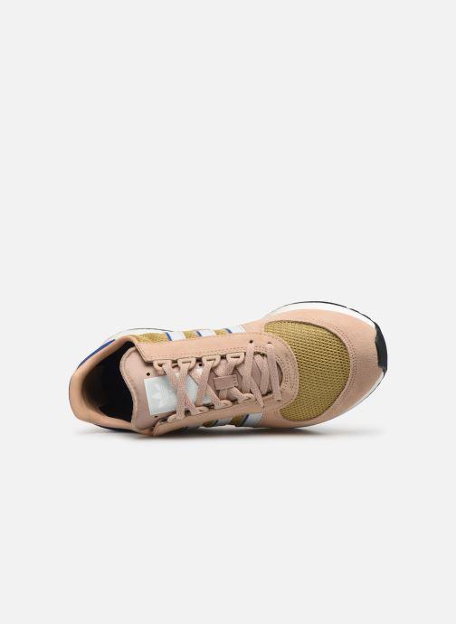 Baskets adidas originals Marathon Tech Marron vue gauche