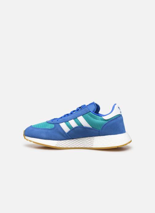 Deportivas adidas originals Marathon Tech Azul vista de frente