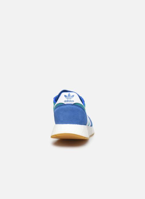 Deportivas adidas originals Marathon Tech Azul vista lateral derecha