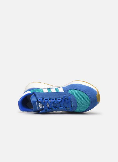 Deportivas adidas originals Marathon Tech Azul vista lateral izquierda