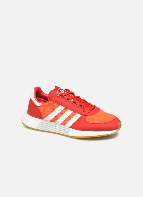 Baskets adidas originals Marathon Tech Rouge vue détail/paire