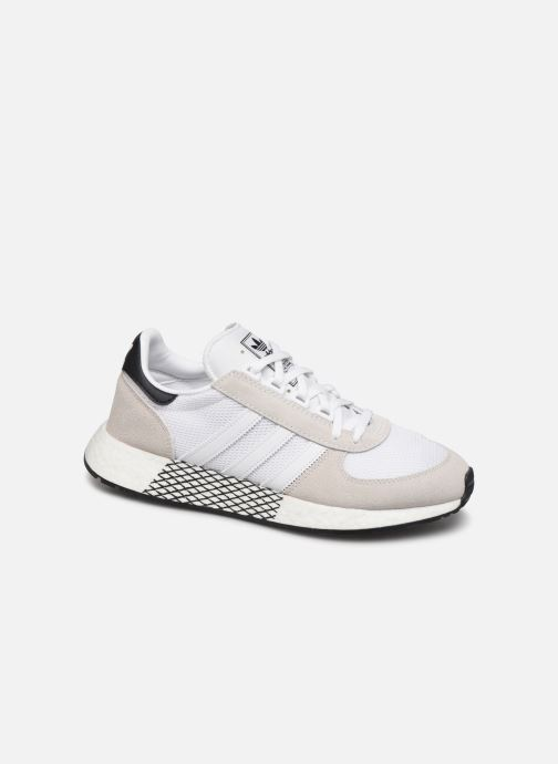 Baskets adidas originals Marathon Tech Blanc vue détail/paire