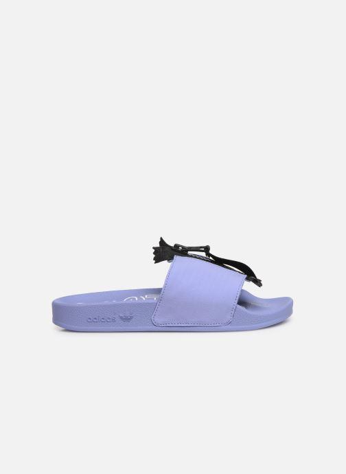 Mules et sabots adidas originals Adilette Zip W Violet vue derrière