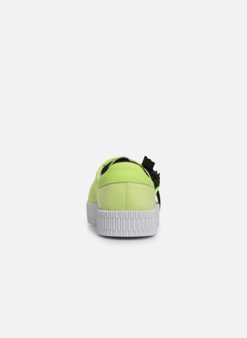 Baskets adidas originals Sambarose Zip W Jaune vue droite