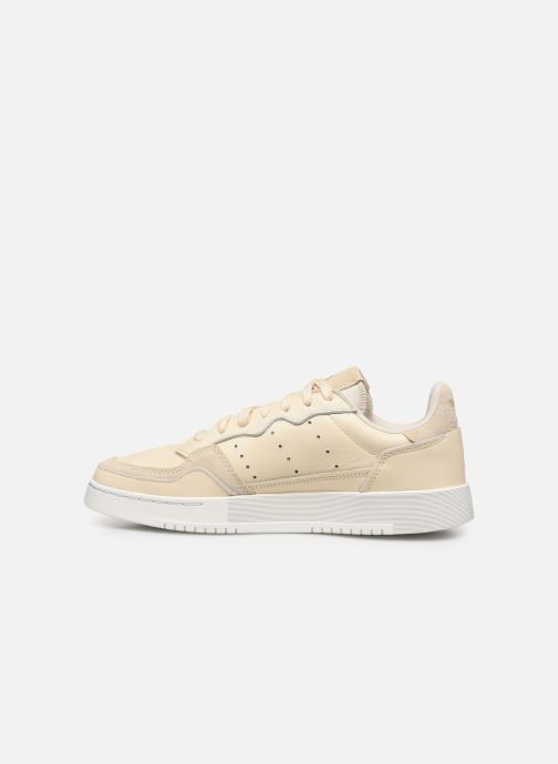 Deportivas adidas originals Supercourt Beige vista de frente