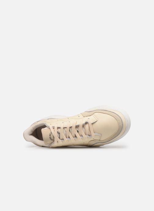 Baskets adidas originals Supercourt Beige vue gauche