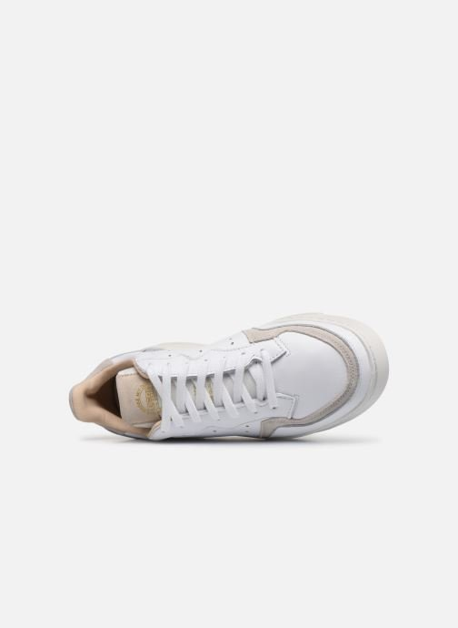Baskets adidas originals Supercourt Blanc vue gauche
