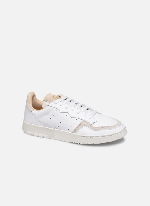 Baskets adidas originals Supercourt Blanc vue détail/paire