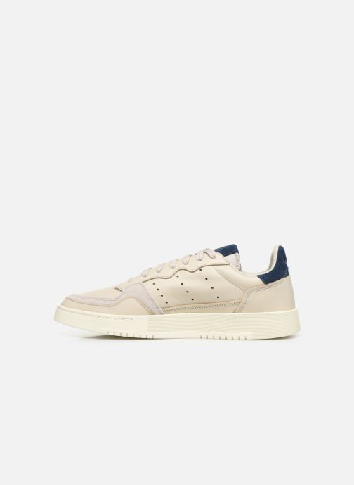 Baskets adidas originals Supercourt Blanc vue face