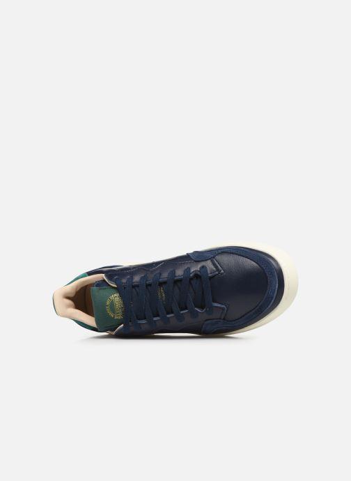 Sneaker adidas originals Supercourt blau ansicht von links