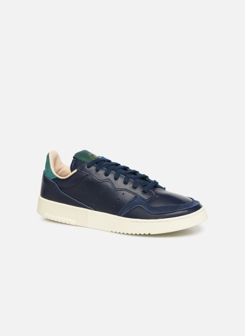 Baskets adidas originals Supercourt Bleu vue détail/paire