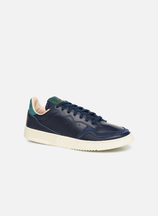 Baskets adidas originals Supercourt Bleu vue détail/paire