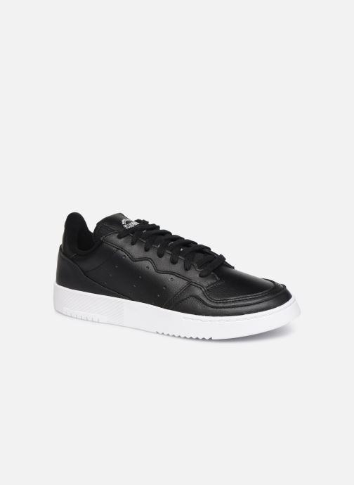 Baskets adidas originals Supercourt Noir vue détail/paire
