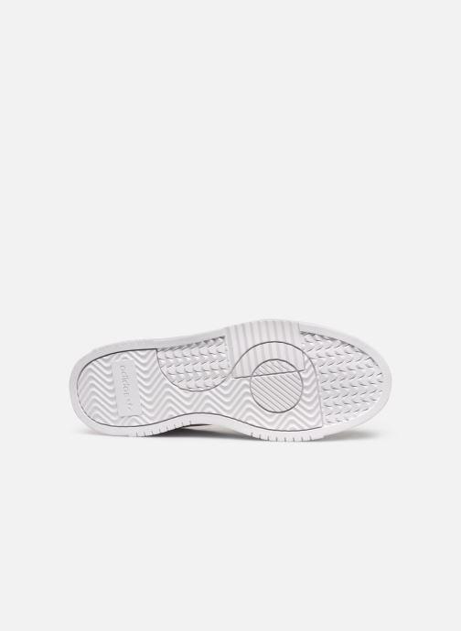 Baskets adidas originals Supercourt Blanc vue haut
