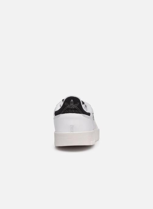 Baskets adidas originals Supercourt Blanc vue droite