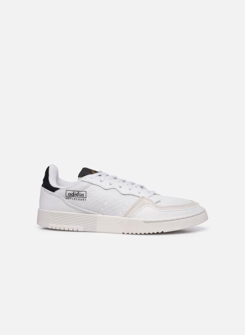 Baskets adidas originals Supercourt Blanc vue derrière