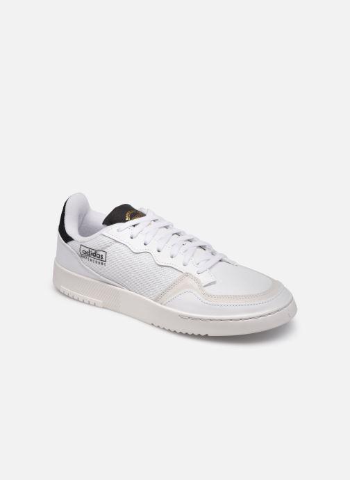Baskets adidas originals Supercourt Blanc vue détail/paire
