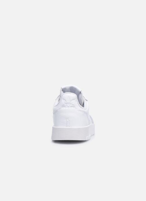 Baskets adidas originals Supercourt W Blanc vue droite