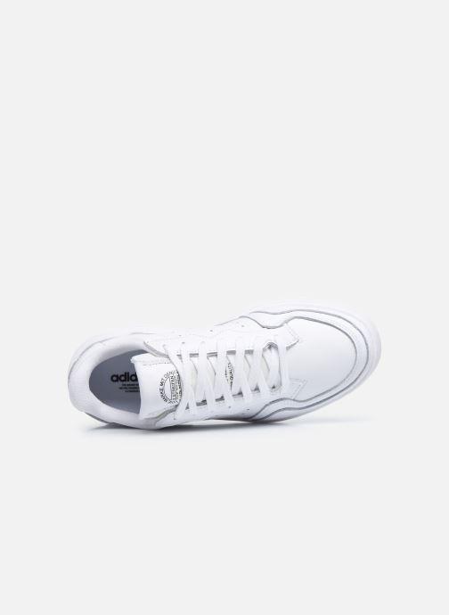 Baskets adidas originals Supercourt W Blanc vue gauche