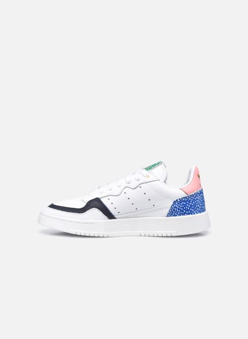Baskets adidas originals Supercourt W Blanc vue face