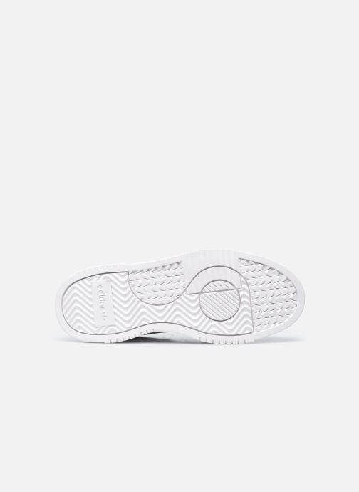 Baskets adidas originals Supercourt W Blanc vue haut