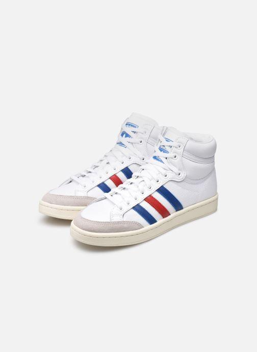 Baskets adidas originals Americana Hi W Blanc vue bas / vue portée sac