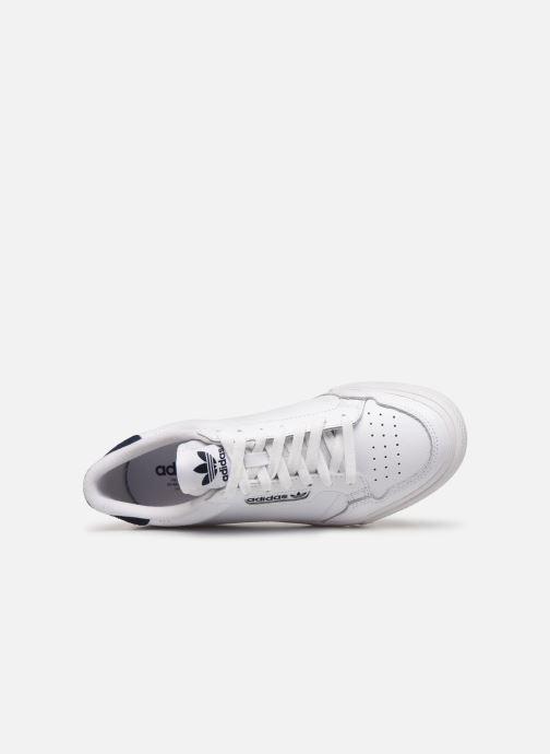Sneaker adidas originals Continental Vulc weiß ansicht von links