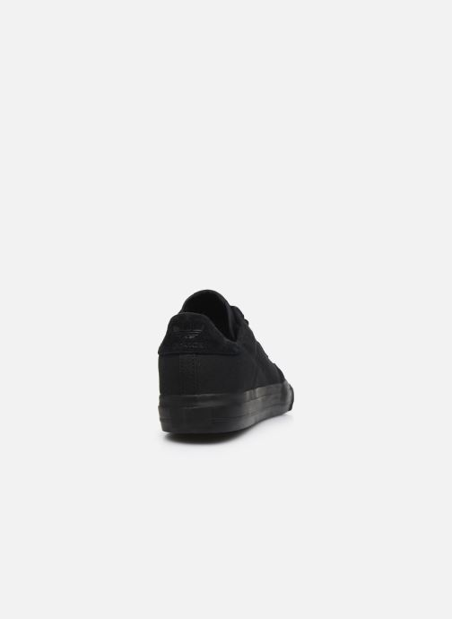 Sneaker adidas originals Continental Vulc schwarz ansicht von rechts